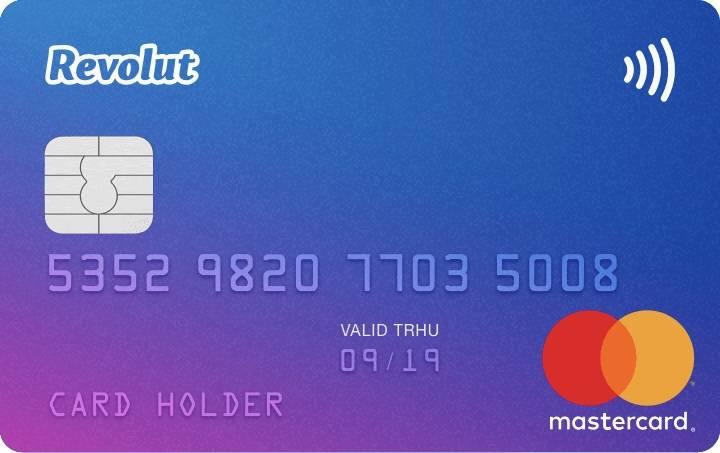 Revolut bankpasje Mastercard